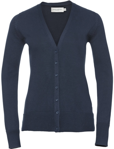715F•LADIES V NECK KNITTED CARDIGAN , 2XL, french navy (04)