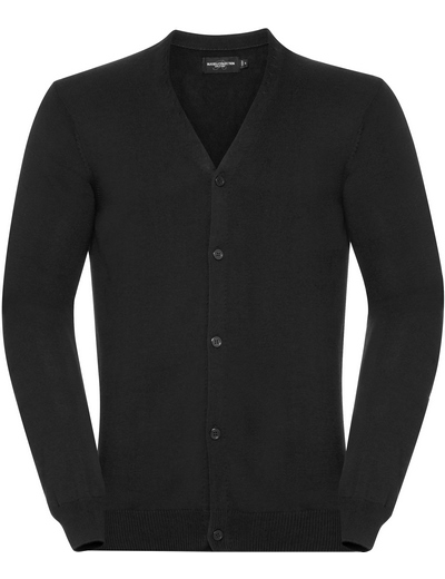 715M•MENS V NECK KNITTED CARDIGAN, 2XL, black (03)