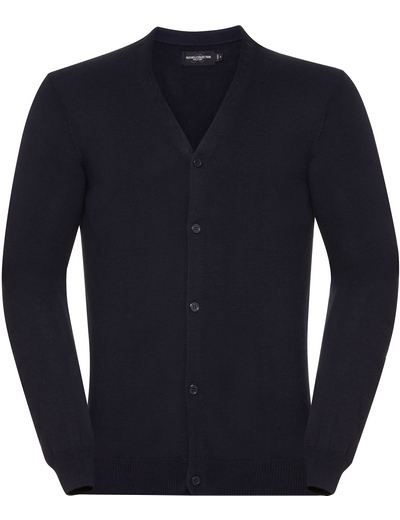715M•MENS V NECK KNITTED CARDIGAN, 2XL, french navy (04)