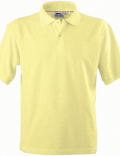 33S01•FOREHAND POLO, S,  OUT-light yellow (08)