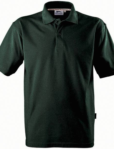33S01•FOREHAND POLO, S,  OUT-bottle green (69)