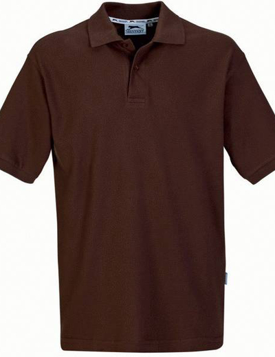 33S01•FOREHAND POLO, S,  OUT-brown (85)